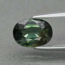 Saphir vert 1,18 carats