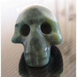 Crâne Quartz vert 108,50 carats